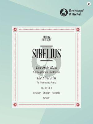 Sibelius Der ertse Kuss (The First Kiss) Op.37 No.1 Mittlere Stimme und Klavier (German/English French) (Text Johan L. Runeberg)