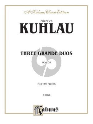 Kuhlau 3 Grand Duos Opus 39 2 Flutes