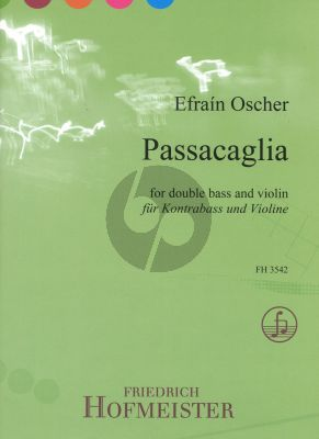 Oscher Passacaglia for Double Bass and Violin (Score and Parts)