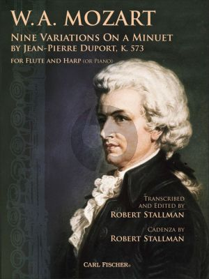 Mozart 9 Variations on a Minuet by Jean-Pierre Duport KV 573 Flute and Harp (or Piano) (transcr. by Robert Stallman)