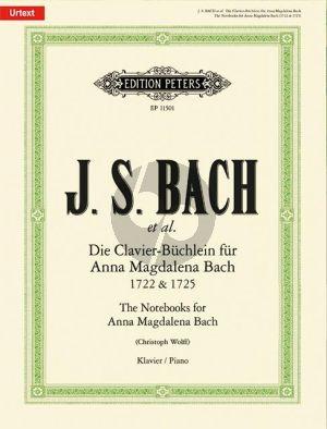 Bach Die Clavier-Büchlein für Anna Magdalena Bach 1722 & 1725 (Auswahl) (Christoph Wolff)