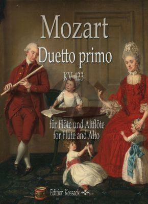 Mozart Duetto primo KV 423 für Flöte und Altflöte (transcr. Barbara Hill)