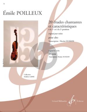 Poilleux 20 études chantantes et caractéristiques Viola (transcr. Nicolas Hussain)