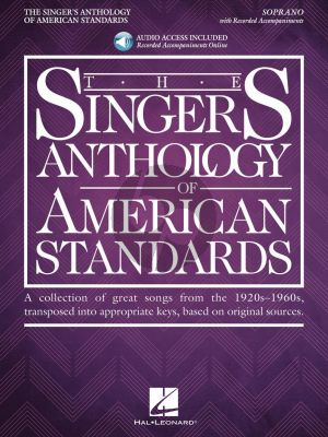 The Singer's Anthology of American Standards Soprano (Book with Audio online) (Richard Walters)