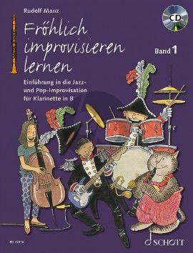 Mauz Fröhlich improvisieren lernen Band 1 (Einführung in die Jazz- und Pop-Improvisation) (Bk-Cd)