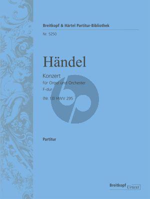 Handel Organ Concerto (No. 13) in F major HWV 295 Study Score (The Cuckoo and the Nightingale) (Ton Koopman)