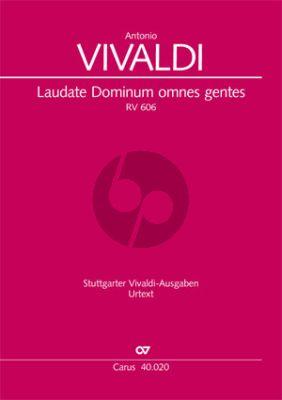 Vivaldi Laudate Dominum Omnes Gentes RV 606 Score (SATB- 2 Vl unisoni-Va. and Bc) (Daniel Ivo de Oliveira)