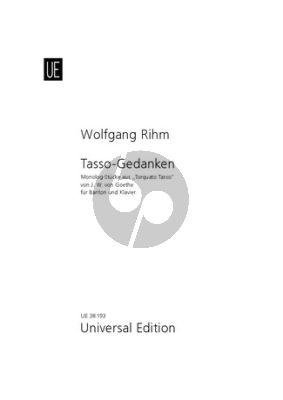 """Rihm Tasso-Gedanken Bariton und Klavier (Monologen von """"Torquato Tasso"""")"""