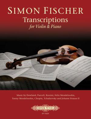 Simon Fischer - Transcriptions for Violin and Piano