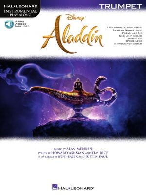Menken Aladdin for Trumpet (Instrumental Play-Along) (Book with Audio online)