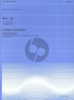 Bach Chaconne from Partita No.2 BWV 1004 for 4 Violas (arranged by Ichiro Nodaira) (Score and Parts)