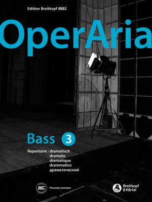 OperAria Bass Vol. 3 dramatic (Book with CD and MP3) (edited by Peter Anton Ling)