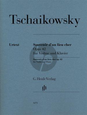 Tchaikovsky Souvenir d'un lieu cher Op. 42 für Violine und Klavier (Alexander Komarov)