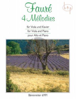 4 Melodies Viola-Piano