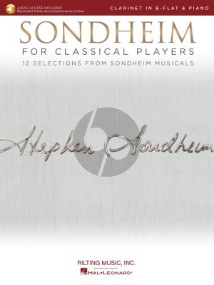 Sondheim for Classical Players for Clarinet and Piano