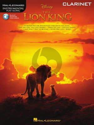 The Lion King for Clarinet (Book with Audio online)