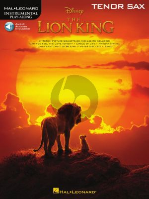 The Lion King for Tenor Saxophone (Book with Audio online)