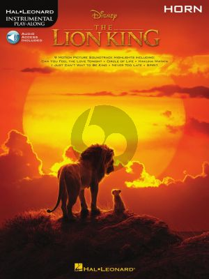 The Lion King for Horn (Book with Audio online)