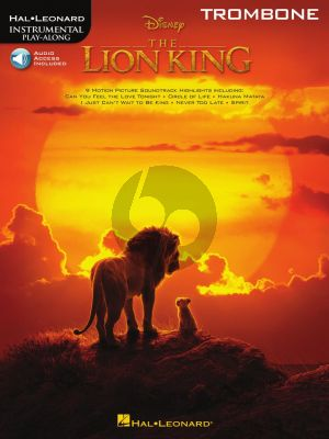 The Lion King for Trombone (Book with Audio online)