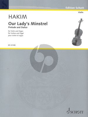 Hakim Our Lady's Minstrel for Violin and Organ (Prelude and Dance)