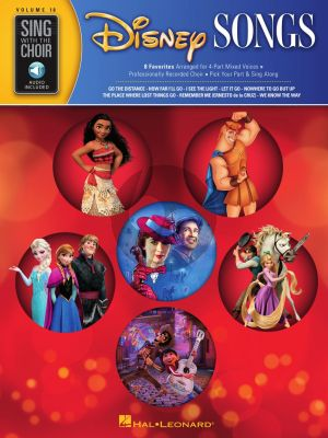 Disney Songs SATB (Sing with the Choir Volume 18) (Book with Audio online)