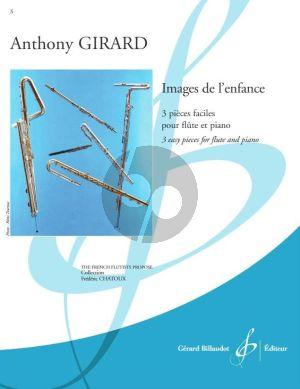 Girard Images de l'enfance Flute et Piano (3 Pieces faciles) (easy level - grade 3)