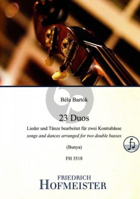 Bartok 23 Duos für 2 Kontrabässe (Lieder und Tänze) (arr. Michinori Bunya)