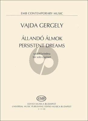 Vajda Persistent dreams for Clarinet solo