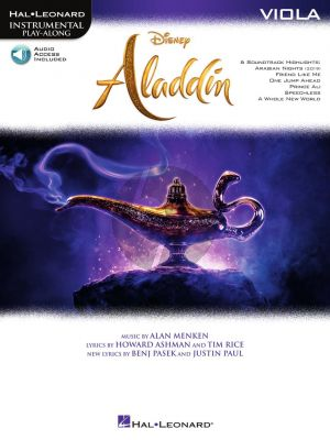 Menken Aladdin for Viola (Instrumental Play-Along) (Book with Audio online)