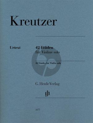 Kreutzer 42 Etuden Violine Solo (Henle-Urtext) (editor Norbert Gretsch and practical comments Ingolf Turban)