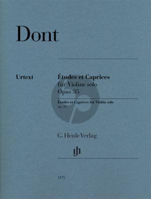 Dont 24 Etuden und Capricen Op.35 Violin solo (Fingering and bowing for Violin by the composer)