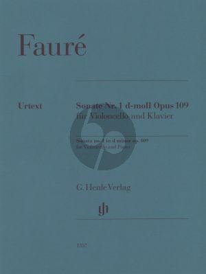 Faure Violoncello Sonata no. 1 d minor op. 109