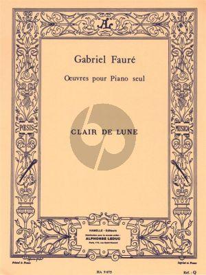 Faure Clair De Lune Op.46 No.2 for Piano Solo