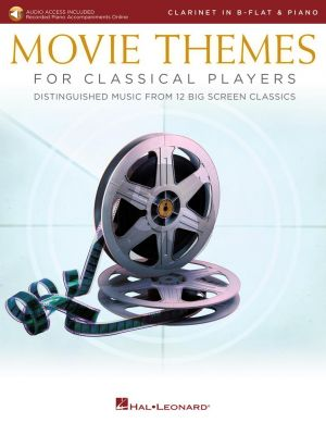 Movie Themes for Classical Players – Clarinet and Piano (Book with Audio online)
