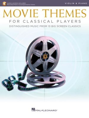 Movie Themes for Classical Players – Violin and Piano (Book with Audio online)