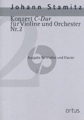 Stamitz Konzert C-dur No.2 Violine und Orchester (Klavierauszug) (Kuo-Hsiang Hung)