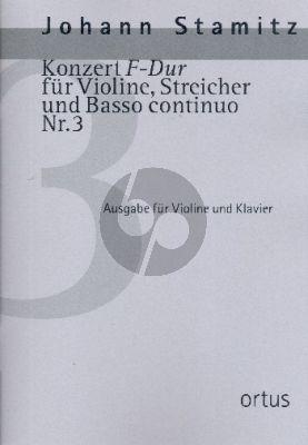 Stamitz Konzert F-dur No.3 Violine-Streicher-Bc (Klavierauszug) (Kuo-Hsiang Hung)
