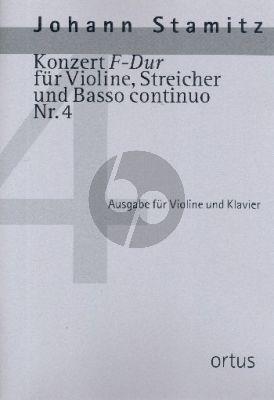 Stamitz Konzert F-dur No.4 Violine-Streicher-Bc (Klavierauszug) (Kuo-Hsiang Hung)