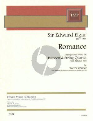 Elgar Romance Op.62 Fagott and String Quartet (Arranged by Trevor Cramer) (Score and Parts)