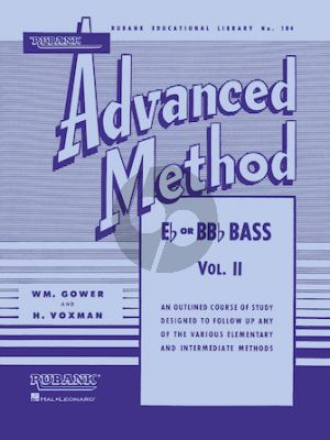 Voxman Gower Advanced Method Vol.2 Eb or Bb Bass - Tuba (Bass Clef in C)