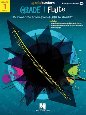 Gradebusters Grade 1 - Flute (15 awesome solos from ABBA to Aladdin) (Book with Audio online)