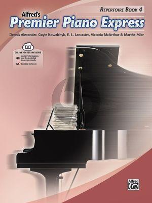 Premier Piano Express, Repertoire Book 4 (Dennis Alexander, Gayle Kowalchyk, E. L. Lancaster, Victoria McArthur, and Martha Mier) (Book with Audio online)