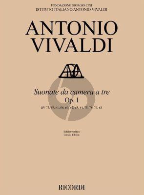 Vivaldi Sonate da Camera a Tre Op. 1 2 Violins and Bc (Score/Parts) (edited by Fabrizio Ammetto)