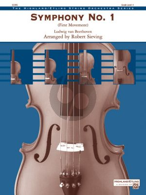 Beethoven Symphony No. 1 First Movement for String Orchestra Score & Parts