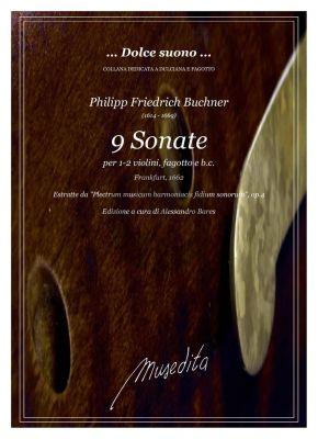 Buchner 9 Sonate per Fagotto con 1 - 2 Violini e Bc (Score/Parts) (edited by Alessandro Bares)