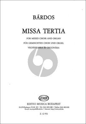 Bardos Missa Tertia Mixed Voices-Organ