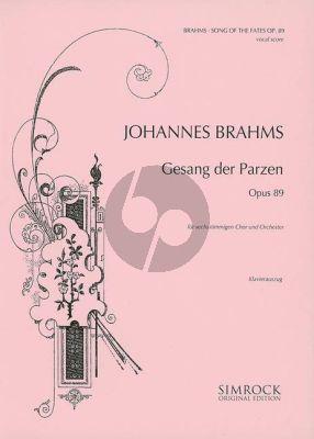 Brahms Gesang der Parzen Op. 89 SAATBB und Orchester (Klavierauszug)