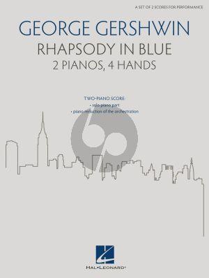 Gershwin Rhapsody in Blue 2 Pianos 4 hds (edited by Brenda Fox)