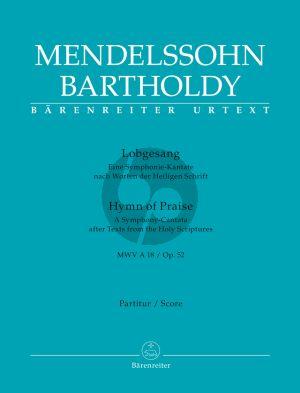 Mendelssohn Lobgesang (Symphony-Cantata) Op. 52 (MWV A18) Soli-Choir-Orch. Full Score (germ./engl.)