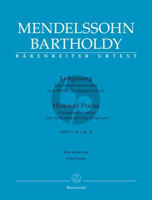 Mendelssohn Lobgesang (Symphony-Cantata) Op. 52 (MWV A18) Soli-Choir-Orch. Vocal Score (germ./engl.)